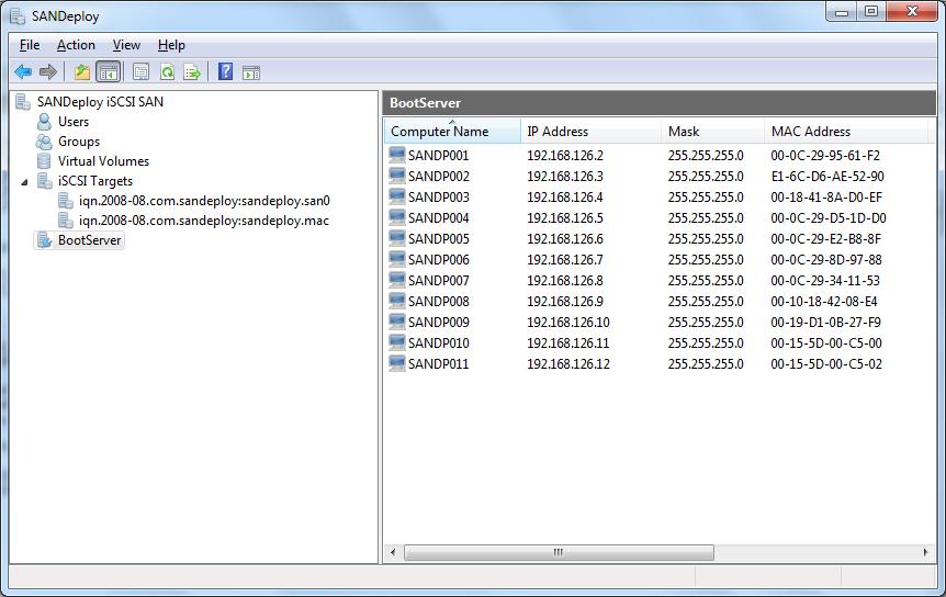 SANDeploy Boot Server