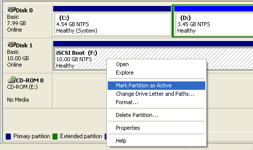 SANDeploy iSCSI Boot - Log on to Target by using MS Initiator